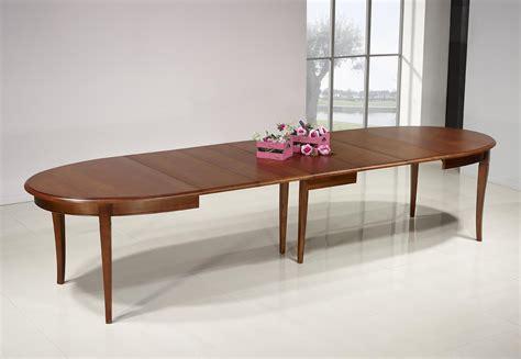 table salle a manger table ovale de salle 224 manger estelle en merisier massif