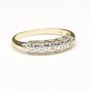 Wedding Ring With Five Small Diamonds C 1965 From