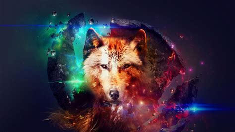 Abstract Wolf Wallpaper Hd by Wolf In Space Wallpaper 38855