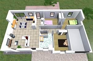 modele de maison oriane With wonderful construire sa maison 3d 5 plan maison 90m2 3d