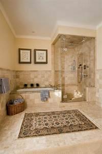 le carrelage beige pour salle de bain 54 photos de With salle de bain provencale