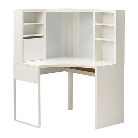 micke poste de travail d 39 angle blanc 100x141 cm ikea