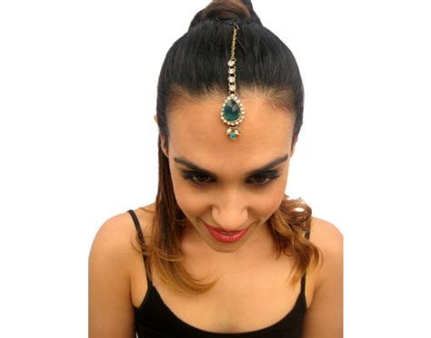 Rouelle Jade Forehead Piece Tikka Headpiece Hair Jewelry In Green And Blue, Head Piece, Hair Brighton Jewelry Eyeglass Chain Armoire Grey Toronto Amazon.ca Joplin Mo Bangles In White Cool Springs