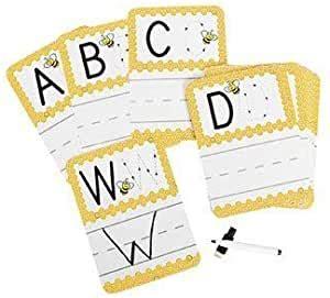 amazoncom busy bee write onwipe  alphabet cards