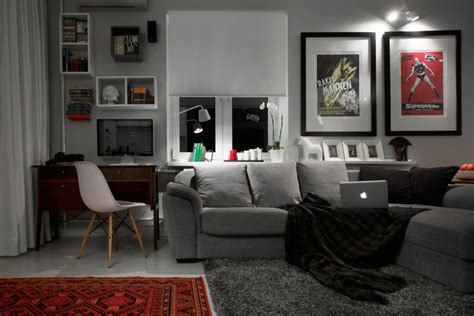Decorating Ideas For Bachelor by Compact Bachelor Pad Captures All The Right Details In An