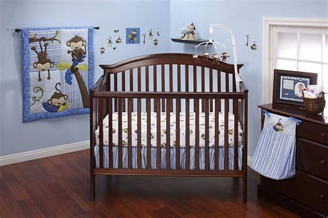 crib sets for boys nojo 3 monkeys baby bedding for baby