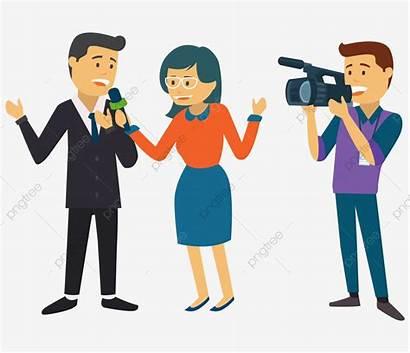 Reporter Cartoon Journalism Transparent Microphone Pngtree Clipart