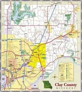 Clay County Missouri Map