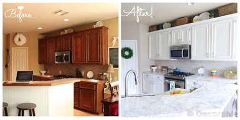 painting oak cabinets white before and after kitchen before and after 3 134