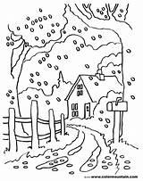 Coloring Road Country Dirt Fall Scenes Drawing Scene Printable Getcolorings Getdrawings Fresh sketch template