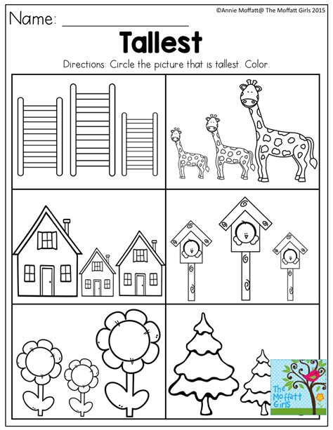 Tallest Tons Of Great Printables For Preschool!  Matematica Pinterest