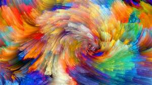 Download Wallpaper 2560x1440 Rainbow pattern, colorful ...