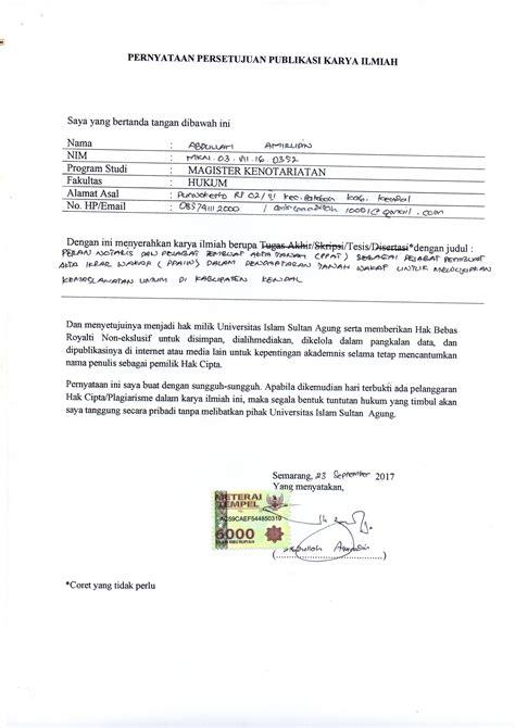 Contoh Surat Wakaf Tanah Pdf Suratmenyuratnet