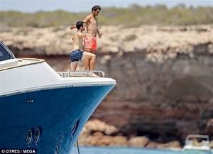 Rafael Nadal looks in great spirits on board luxury yacht ...