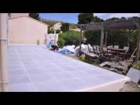 Dalles Beton Terrasse : terrasse en dalles b ton sur sable terrace concrete slabs on sand bed youtube ~ Melissatoandfro.com Idées de Décoration
