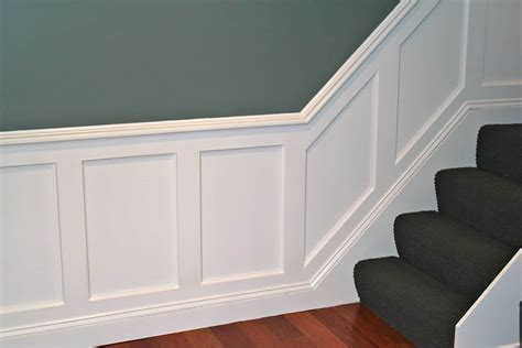 Ready Made Wainscoting Panels by White Raised Panel Wainscoting In The House Decorative