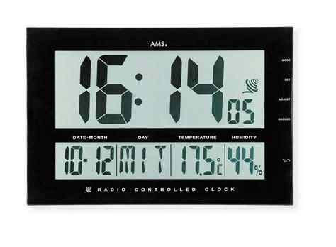 horloge murale digitale radio pilot 233 e allblack horloge murale digitale dans la gamme horloge