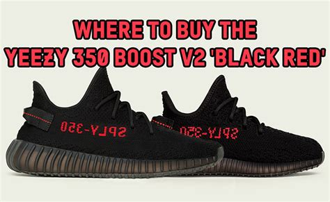 Where To Buy Adidas Yeezy Boost 350 V2 Black Red Online In