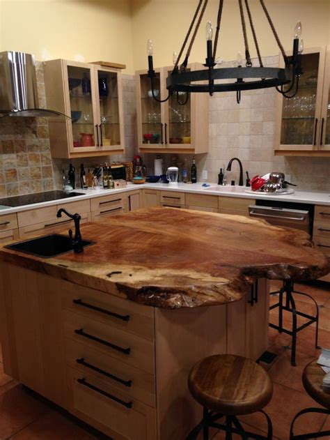 spalted maple top   kitchen island custom kitchen
