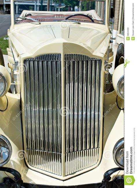 vintage luxury car grill stock photo image