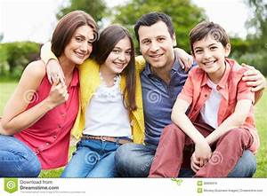 Portrait Of Hispanic Family In Countryside Royalty Free ...
