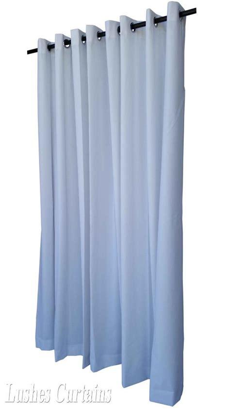 Ring Top Drapery - white 10 ft velvet curtain panel w ring grommet top