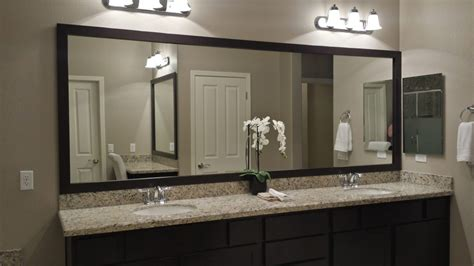 Master Bathroom Mirrors before and after customer bathroom in las vegas frame