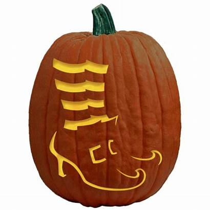 Pumpkin Carving Stencils Halloween Witch Wizard Shoes