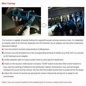 High Quality Rj11 Rj45 Cat5 Cat6 Telephone Wire Tracker