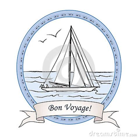 Bon Voyage Boat by Bon Voyage Greeting Vintage Card Cruise Label With Ship