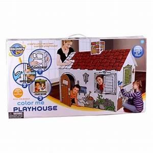 Cabane En Carton À Colorier : discovery kids maison de carton colorier ~ Melissatoandfro.com Idées de Décoration