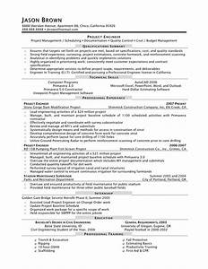 Project engineer resume free excel templates for Engineer resume