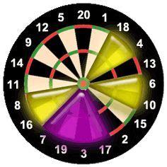 printable dart double  chart darts   darts