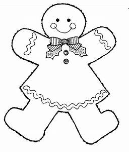 Gingerbread Outline Clipart - Clipart Suggest