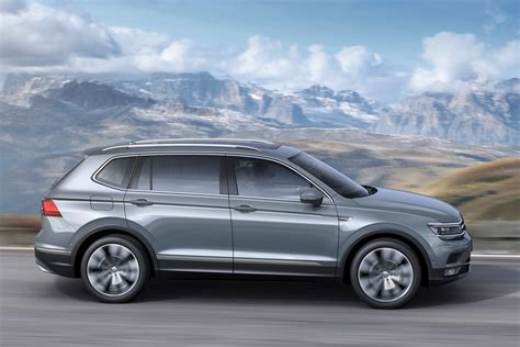 A full 22 cm (8.6 inches) longer than the standard crossover, the tiguan allspace offers up to three rows of seats and 1,920 liters (68 cubic feet) of cargo space. Volkswagen Tiguan Allspace (2017 - ) Photos | Parkers