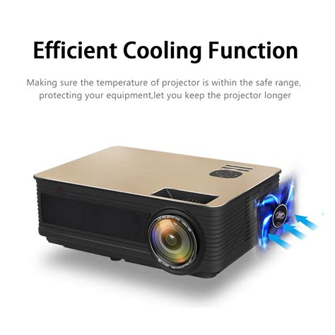 Outdoor Len Led by 8000lumens Hd Slr Len Led Projector Media Home Outdoor