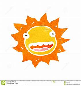 Retro Cartoon Sun With Face Stock Photography - Image ...