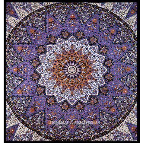 purple   medallion star mandala tapestry hippie wall