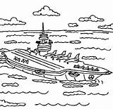 Carrier Coloring Aircraft Sea Ship Navy Coloringsky Colouring Template Colour Pure Sky States United sketch template