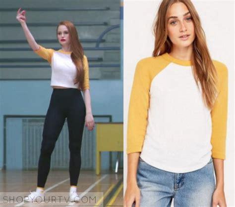 Riverdale Season 1 Episode 10 Cherylu0026#39;s Yellow White Tee | Cheryl Blossom (Madelaine Petsch ...