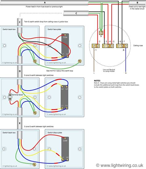 kitchen light wiring diagram three way light switching circuit diagram cable 5345