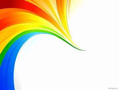 Rainbow Ppt Template Business Background Colorful Backgrounds