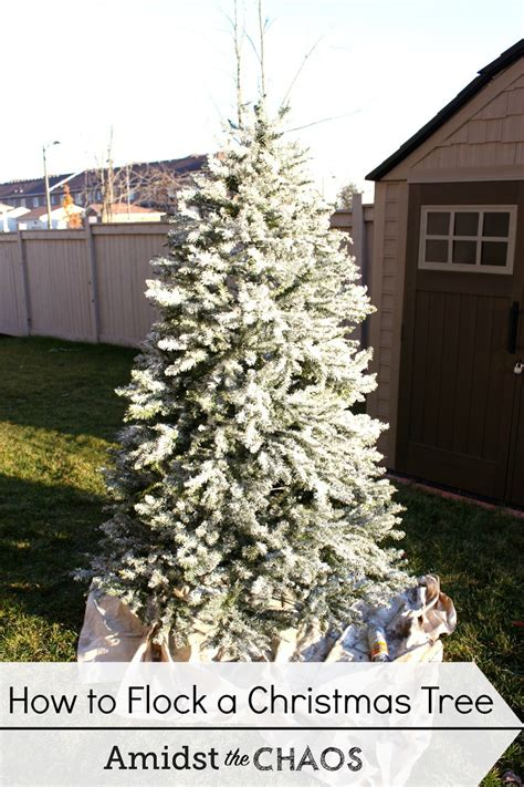 how to flock a christmas tree decorating your christmas tree day 1 how to flock your tree