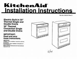 Kitchenaid Double Oven 3182137 User Guide