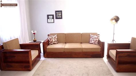 Images Of Sofa Set Designs by Wooden Sofa Set Buy Marriott Wooden Sofa Set In Honey