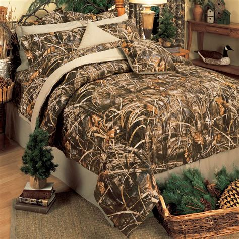 realtree max 4 camo ez bed set comforter sheets
