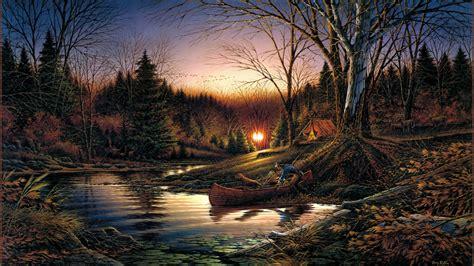 Terry Redlin Morning Solitude art autumn morning sunrise