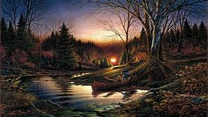 Terry Redlin Morning Solitude art autumn morning sunrise ...