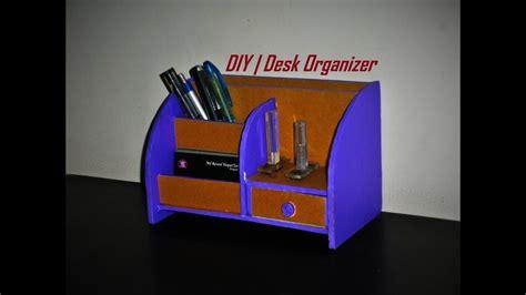 diy desk organizer   cardboard room decor