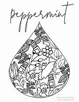 Coloring Pages Adult Essential Doterra Oils Living Colouring Young Destress Peppermint Uploaded User Lavender Discover sketch template